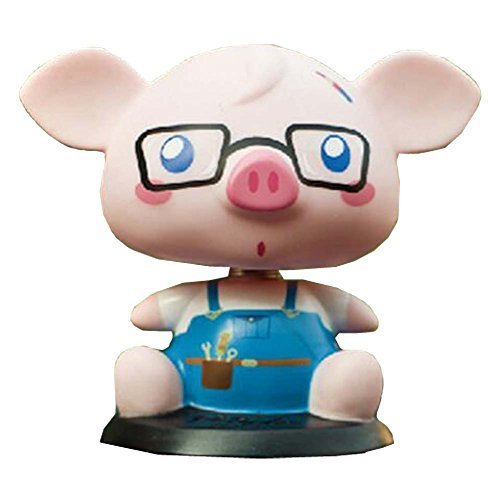 PANDA SUPERSTORE [Otaku Piggy] Bobbleheads Car Ornaments/Car Decoration,4.7x3.9x