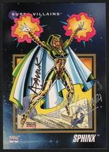 Alex Saviuk & Brad Vancata SIGNED 1992 Marvel Universe Trading Art Card ~ Sphinx - $14.84
