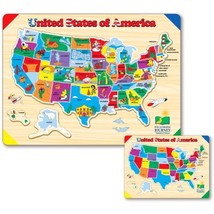 The Learning Journey Lift & Learn USA Map Puzzle - $13.47