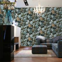 beibehang 3D Luxury Natural Grey Brick Wall Stone Rock Slate Effect 10M Vinyl - $69.95