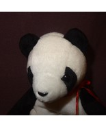 "Panda Bear Fortune  1998 Ty Beanie Babies Plush Stuffed Animal 6"" Blue - $9.99"