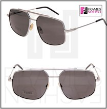 FENDI AIR FFM0007S Ruthenium Black Navigator Metal POLARIZED Sunglasses ... - $212.85