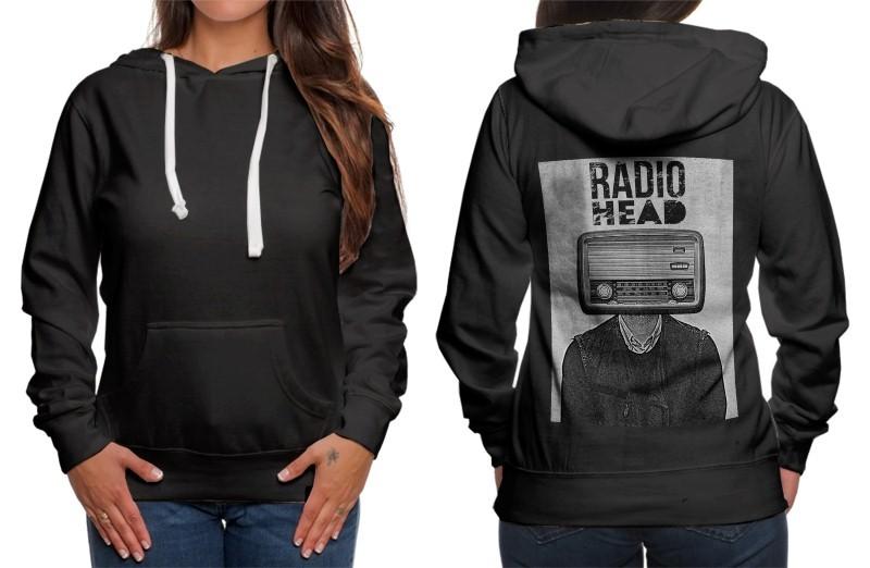 Radio head classic hoodie women black