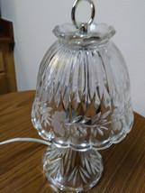 Vintage Leviton  Crystal  Glass Lamp Working Night Light Lamp image 1