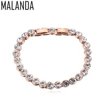 MALANDA Brand 2018 Hot Fashion Real Round Crystal From Swarovski Gold Co... - $19.40
