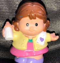 1997 Fisher Price Little People MOM MOTHER MOMMY for BABY Happy House Ye... - $11.39