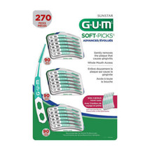 Sunstar GUM Soft Picks ADVANCED 270 Picks - Includes 3 On The Go Cases - $24.74