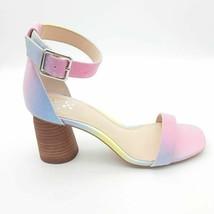 Vince Camuto Womens Mejorla Sandals Multicolor Buckle Block Heels 8M NEW - $39.59