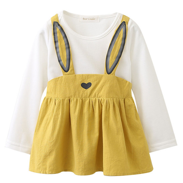 Ader baby dresses 2018 new spring baby girls clothes cute carrot printing princess newborn dress