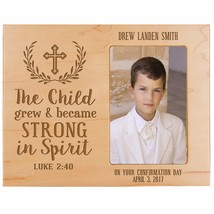 New Christening Baptism Gift Baby Announcement Photo Frame Holds 4x6 Pic... - $54.99
