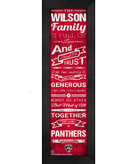 "Personalized Florida Panthers ""Family Cheer"" 24 x 8 Framed Print - $39.95"