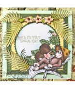 Heartfelt Creations Cling Rubber Stamp Set Relaxin' Monkeys, HCPC3780 RE... - $15.26