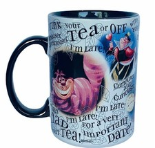 Alice in Wonderland coffee mug cup Cheshire Cat Queen Hearts Mad Hatter ... - $38.65