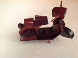 Wooden Hand Crafted?? Miniature Scooter Motorcycle - $10.00