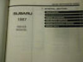 1987 Subaru XT Service Reparatur Shop Manuell Set Fabrik OEM Bücher 87 image 3