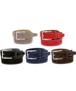 NWT S075 Men's Italian Suede Leather Dress Casual Golf Belt Made in Ital... - $24.95