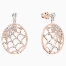 Authentic Swarovski Precisely Spider's Web Drop Earrings in Rose Gold - $111.27