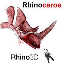 Rhino 3D MODELING V6 or V7 - Keys - $75.00