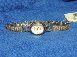 UNUSED Vintage Rumours Ladies Wristwatch Quartz faux mother of pearl fac... - $17.99