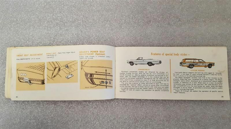FORD PASS 1967 Owners Manual 15777