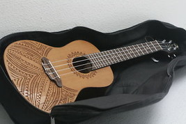 Luna Guitars 4-String Concert Ukulele Right Handed Brown COSMETIC WEAR O... - $124.12