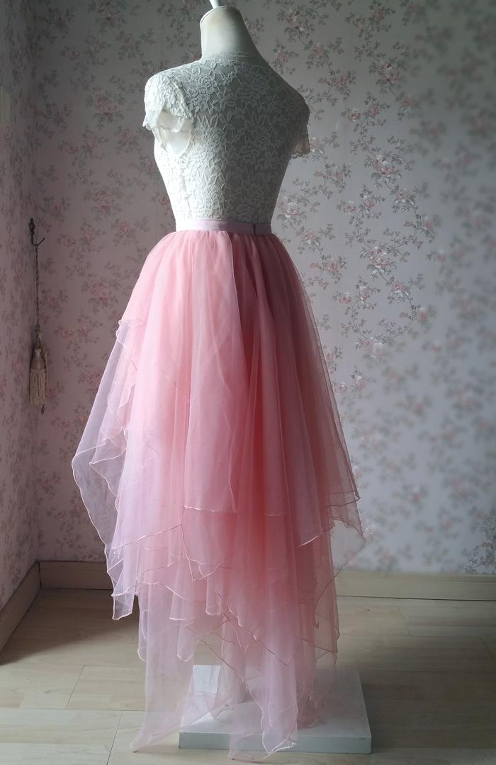 Tier tulle skirt pink 700 3