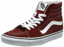 Vans Sk8 Hi Madder Brown True White Men's 11 Skate Shoes New Brown Hi Top - $62.95
