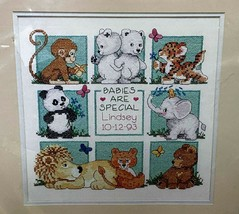 Sunset Baby Hugs Wildlife Babies Stamped Cross Stitch Kit 13048 Dimensions - $16.65
