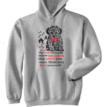 Poodle Is The Only Thing - New Cotton Grey Hoodie - $40.66