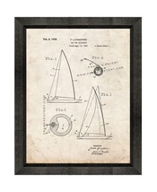 Rig For Sailboats Patent Print Old Look with Beveled Wood Frame - $24.95+