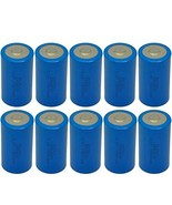 10 Pack D Cell Battery ER34615 3.6V 19000mAh Lithium Battery Button Top - $102.42