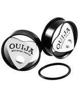 2pcs Steel Ouija Ear Plugs Tunnels Eyelet Single Flared Flesh Tunnel Gau... - $10.76