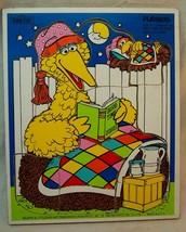 1984 Playskool #315-24 Vintage Sesame Street Big Bird Wooden Frame Tray Puzzle - $19.80