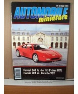 French Model Car Catalog Automobile Miniatute No 84 Mai/May 1991 - $8.99
