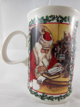 Dunoon fine Stoneware  Mug Cup Merry Christmas Santa Made in England - $9.89