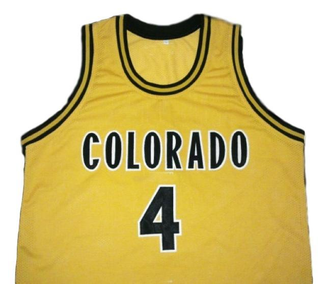 Chauncey billups college basketball jersey gold 1