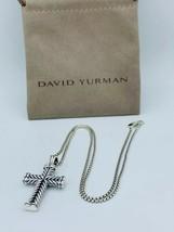David Yurman Sterling Silver Chevron Cross Pendant & Chain - $284.05