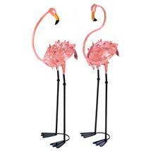Home Garden Decor, Pink Metal Flamingo Outdoor Garden Statues Animals (1... - $90.54