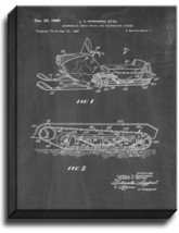 Snowmobile Tread Drive And Suspension System Patent Print Chalkboard on Canvas - $39.95+