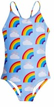 Funnycokid Girls Rainbow Cloud Bathing Suit 10 Years Old Kids One Piece ... - $16.06