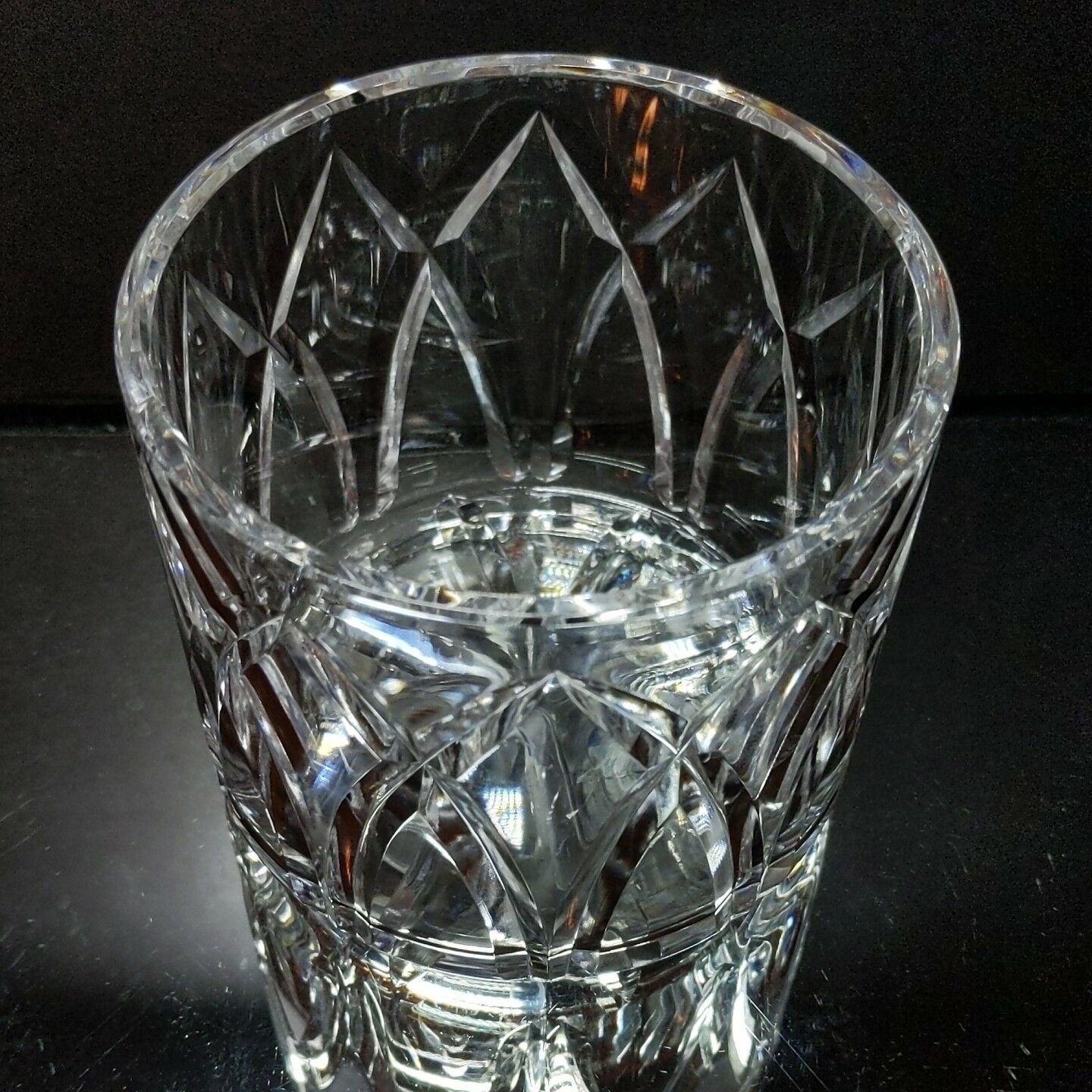 1 (One)  ROYAL BRIERLEY Cut Lead Crystal Round Candy / Incidental Dish - Signed image 2