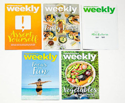 Lot Of 5 Weight Watchers Weekly Guides July & August 2017 With Recipes - $3.36