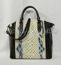 NWT Brahmin Large Duxbury Leather Satchel/Shoulder Bag Glacier Carlisle - $339.00