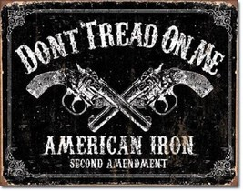 Don't Tread On Me American Flag Iron 2nd Military Garage Shop Wall Decor Sign - $15.99