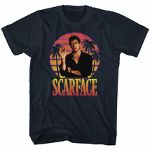Scarface Movie Tony Montana Palm Tree Background Men's T Shirt Cocaine D... - £14.71 GBP+