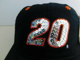 """Womens  # 20 Tony Stewart Strapback Ball Cap Hat Nascar """"Sequins in Number"""" - $9.60"""