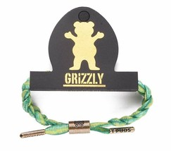 Rastaclat X Torey Pudwill Green Grizzly Indica Braided Shoelace Bracelet NEW