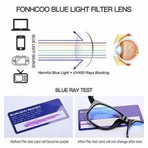 FONHCOO Blue Light Blocking Glasses Women Men Computer Reading Glasses Anti Eyes image 3