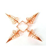 Copper and Clear Quartz Crystal Four Point Energy Generator Energy Enhan... - $22.49