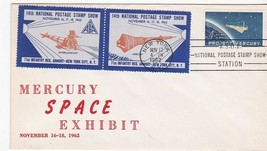 PROJECT MERCURY SPACE EXHIBIT ORANGE STAMP NEW YORK NY NOV 17 1962  - $1.98